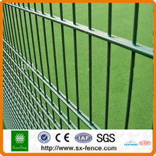 iron rod pvc coated/galvanized double wire fence
