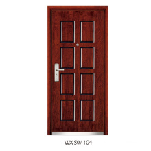 Expert Supplier Steel Wooden Door (WX-SW-104)