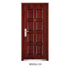 Fornecedor especializado Porta de madeira de aço (WX-SW-104)