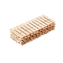 High Quality Wholesale 36PCS Spring Mini Wooden Clothespin/Clothes Pegs