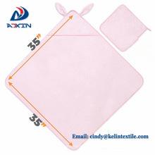 2018 venta caliente verano 89x89cm algodón bordado logo bebé toalla con capucha