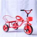 Two seats kid tricycle with PP wheel