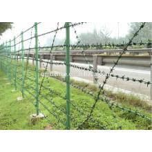El alambre de púas galvanizado caliente caliente bajo precio de la fábrica del GM Anping para la venta