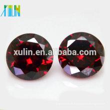 Novas gemas baratas coloridas pedras de zircão cristal de forma redonda