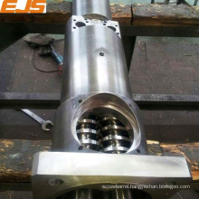 nitrided rotating twin conical barrel