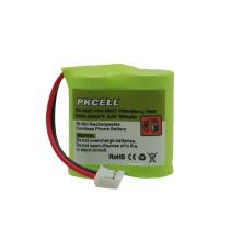 Batería recargable del teléfono inalámbrico nimh 2 batería de 3aa 2.4v