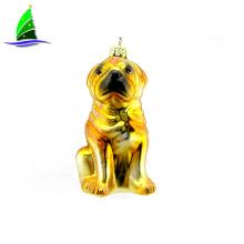 Venta al por mayor de perro colgante barato adorno de Navidad