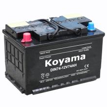 Bateria de partida carregada seca DIN74-12V74ah