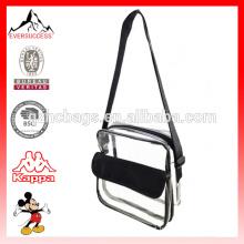 Bolsa de ombro transparente de PVC Crossbody Bag única ombro transparente