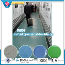 Fire-Resistant Rubber Flooring Gym Rubber Flooring Hospital Rubber Flooring Airport Rubber Flooring