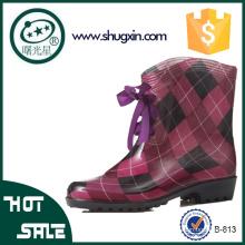 женщины плоские водонепроницаемый дождь обувь корейский ботинки дождя