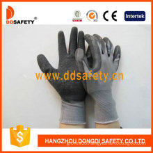Ddsafety Black Latex Coated Gloves Crinkle Finish Work Gloves (DNL108)