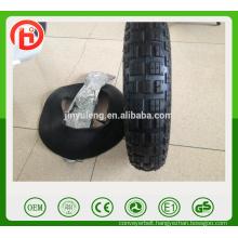Cheap wheel barrow tyre 3.50-8/4.00-8 pneumatic wheel tire&tube free pattern