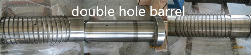 double hole screw barrel