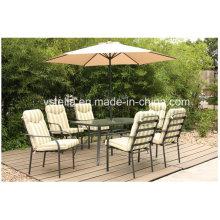 Outdoor Patio Esszimmerstuhl Möbel mit Sonnenschirm