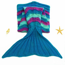 Warme Polar Fleece Stoff Kids Mermaid Tail Decke