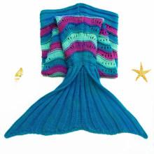 Warm Polar Fleece Fabric Kids Mermaid Tail Blanket
