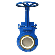 Shanghai POV made low price high quality lug wafer knife gate valve pn16 dn80