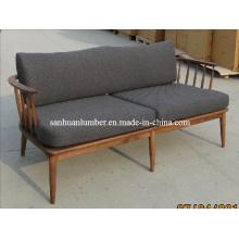 Style classique pour canapé revêtement naturel (SF-3KN-16)