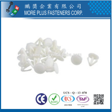 Made in Taiwan PP Nylon Easy Release Push Fit Plastic Rivet White