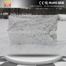 Silber Polyester Folie Umkehrbare Decke 210x130cm