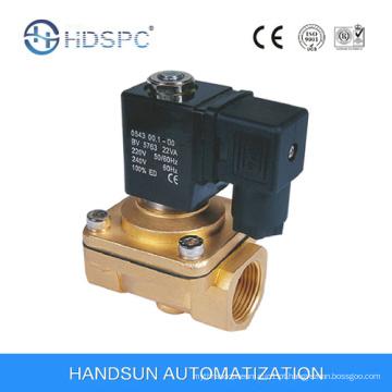 Válvula de solenoide de água do latão PU220 2/2 vias ação direta