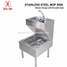 Public Sanitary Commercial Stainless Steel Mop Sink with Hand Wash Basin
