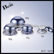 Perla del tarro 5g, perla elegante del tarro de 5g con el labio, tarro cosmético de acrílico redondo 30g