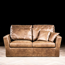 Sofa for Living Room 2 Seater Mini Vintage Leather Sofa Contemporary Leather Couch