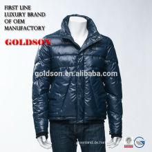 Neueste und modische Uncapped Short Herren Winter Daunenjacke / Mantel mit OEM Service in Zhejiang China