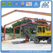 Bâtiment d'entrepôt préfabriqué préfabriqué en acier à couleur ondulée à construction rapide