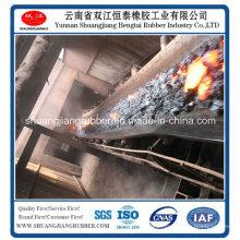 Banda transportadora de goma a prueba de calor para la mina de carbón GB / T20021-2005