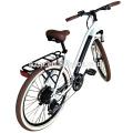 2018 Nueva alta calidad de la bici 250W 350W 500W 700C e rápida moto urbana eléctrica de la ciudad de dama