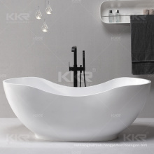 Freestanding resin solid surface pedestal stone bath tubs