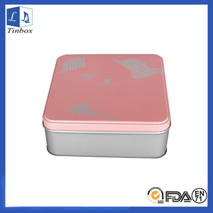 Square Food Tin Box For Christmas Gift