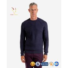Chandail tricoté de pull d'hiver chaud de câble des hommes
