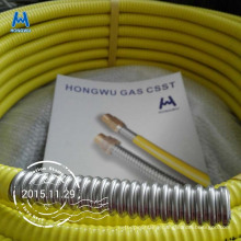 AISI 304 316L PLT CSST corrugated pliable tube for gas