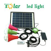 Heiße neue Produkte für 2014 CE solar Licht für zu Hause mit Solar-Panel & Telefon charger(JR-SL988)