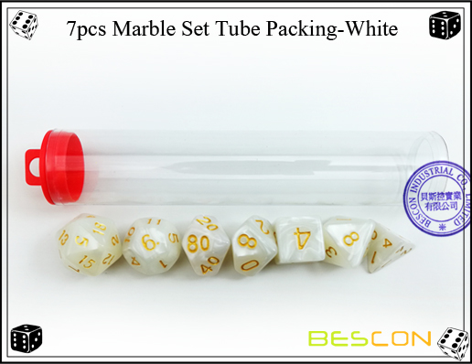 7pcs Marble Set Tube Packing-White-2