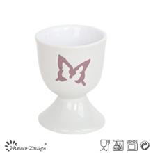Tasse à oeuf en céramique de 5 cm avec papillon gravé