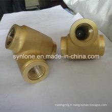 Pièces en laiton adaptées aux besoins du client de valve de bâti, moulage perdu de cire