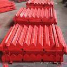 Movable Jaws for Metso Crushers (C63/C80/C100B/C110/C125B)