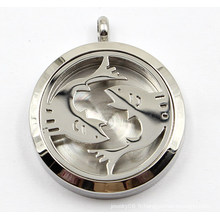 Dia 30mm Pisces Stainless Steel Perfume Diffuser Locket Pendant