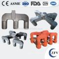 Cast steel anode yoke for electronic aluminum