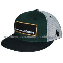 Flat Bill Snapback Twill Mesh Custom Baseball Trucker Cap (TMFL8836-1)