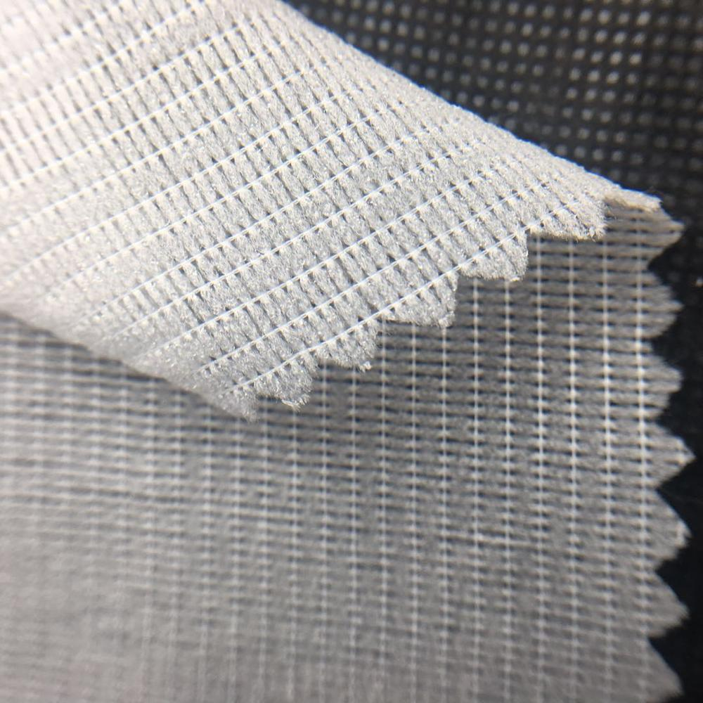Stretch Fusible Tricot Polyester Wovem Fabric Interlining