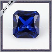Очаровательная квадратная форма Asscher Cut 34 # Sapphire Corundum
