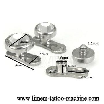 aço cirúrgico da forma 316L dermal com anodização da jóia piercing do corpo de Labret