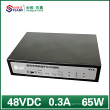 4 порта Gigabit Стандарт управляемый переключатель PoE