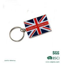 Pas cher de haute qualité UK drapeau émail porte-clés pour cadeau